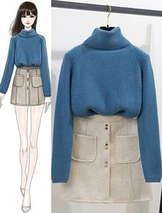 New Vintage Fashion Sketches Outfit Ideas Korea Fashion, Asian Fashion, Look Fashion, Trendy Fashion, Diy Fashion, Fashion Design Drawings, Fashion Sketches, Vintage Outfits, Vintage Fashion