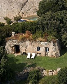 On a cold & windy NYC day, we are dreaming of Villa Arba Barona in Corsica, a shepherd's house overlooking the valley and sea. Corsica, Cabin Design, House Design, London Instagram, Instagram Posts, Stone Cabin, Architecture Design, Madrid, France Photos