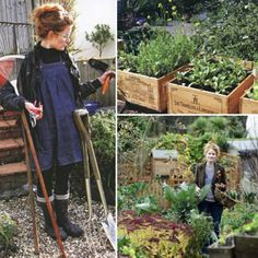 in my mind i should have a garden like this and wear a gardening outfit like this.