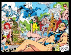 X Men Marvel, Marvel Comics Art, Marvel Girls, Marvel Heroes, Comic Books Art, Comic Art, Book Art, Jim Lee Art, The New Mutants