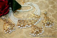 INDIAN AND TRADITIONAL JADAU JEWELLERY, THESE ALL SETS ARE HANDMADE SETS WITH SETTING STONES, RUBY-PANNA, MANAK AND HYDRABAADI PEARLS...THESE ARE THE TRADITIONAL PUNJABI JEWELLERY ....