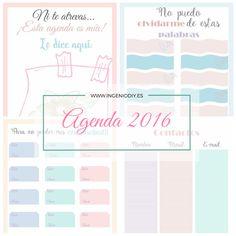 Organiza tu tiempo con una agenda Femenina y estilizada, pensada para imprimir en formato bolsillo. Presume de agenda en el 2016
