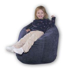 Baby Bean Bag Chair Color: Sky Suede - http://delanico.com/bean-bag-chairs/baby-bean-bag-chair-color-sky-suede-528907484/