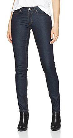 BOSS Damen Straight Jeans Orange J20 Rienne 10167084 01 Blau (Navy 415) W29  af6ffa80db