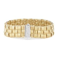 Roberto Coin Woven Diamond Bracelet from Lee Michaels