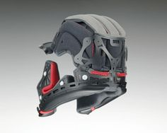 Padding and reinforced layers inside the Shoei X Spirit III