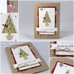 Stampin' up! - Weihnachtskarte Christbaumfestival, Christmas card Festival of Trees, Fine Paper Arts