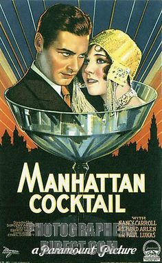 Manhattan Cocktail , splendid poster for the 1928 movie