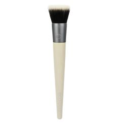 "#1293  The SEAMLESS STIPPLING brush is designed with duo fiber bristles for soft application and layering of foundation, blush or highlighters to create a photo-ready finish. Dab bristles in product to gently pick up color. Lightly ""stipple"" or ""tap"" long bristles onto desired area of face for a pixilated or dotted affect. Next, blend out dots by adding a bit more force to brush to activate the short bristles and create an airbrushed look."