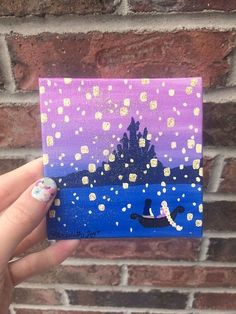 86 Stunning Art Canvas Painting Ideas for Your Home - Mini canvas art Disney Canvas Paintings, Disney Canvas Art, Simple Canvas Paintings, Small Canvas Art, Mini Canvas Art, Cute Paintings, Small Paintings, Acrylic Painting Canvas, Canvas Canvas