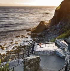 Esalen Institute, Big Sur, California. Set on the cliffs south of Monterey and steeped in the countercultural ethos of the 1960's, the Esalen Institute is a retreat whose mission may be more relevant than ever
