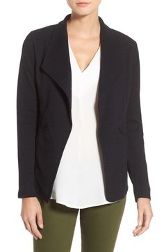 Caslon Cotton Knit Open Front Blazer