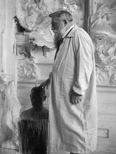 Artist Studio | Auguste Rodin (1840-1917) at Meudon in 1905 by Gertrude Käsebier