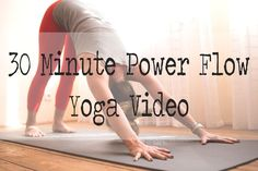 Pin now, practice later! Free 30 min power flow yoga video