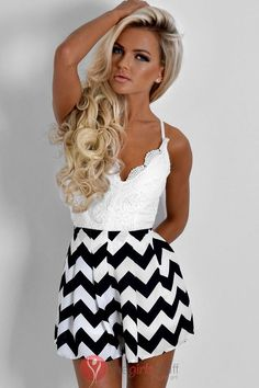 Black and White Jumpsuits http://www.thegirlsstuff.com/black-and-white-jumpsuits-patterns/