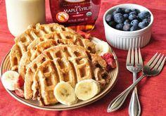 Stawberry BlueBerry Banana Waffles!
