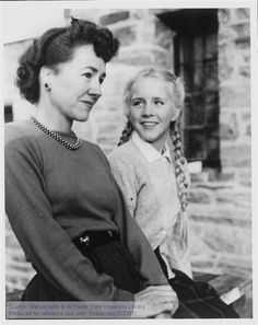 The Manuscripts and Archives Digital Images Database (MADID), Image #3281  Yale University Anne Morrow Lindbergh and her daughter, Anne S., Westport, c1950