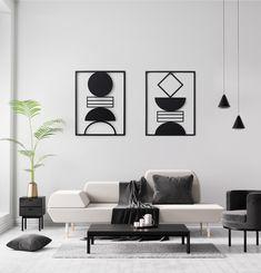 Wall Art Set of Framed Metal Art, Interior Decor, Metal Wall Decor, Modern geometric Room Decor, Metal Bird Wall Art, Metal Art Decor, Unique Wall Decor, Geometric Wall Art, Geometric Shapes, Contemporary Wall Art, Inspirational Wall Art, Living Room Art, Wall Art Sets