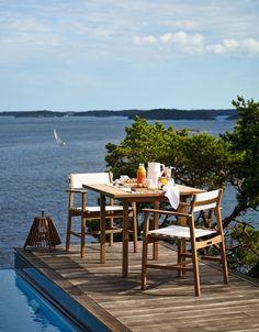 Djurö dining chairs and table. Design: Matilda Lindblom.