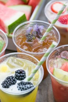 4 Delicious Agua Fresca Recipes and Bar - Sugar and Charm - sweet recipes - entertaining tips - lifestyle inspiration Sugar and Charm – sweet recipes – entertaining tips – lifestyle inspiration Summer Recipes, New Recipes, Sweet Recipes, Cake Recipes, Favorite Recipes, Drink Recipes, Salad Recipes, Refreshing Cocktails, Summer Drinks