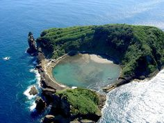 Islet of Vila Franca do Campo, Azores, Portugal Azores Portugal, Spain And Portugal, Landscape Photos, Landscape Photography, Portugal Places To Visit, Las Azores, Places To Travel, Places To Go, The Beautiful Country