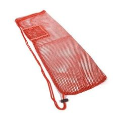"25"" X 6"" Yoga Mat Mesh Bag with Pocket and Strap, Red #yogamatbags"
