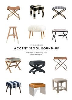 10 Accent Stools To Fill Any Space — STUDIO MCGEE