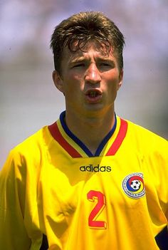 Portrait of Dan Vasile Petrescu of Romania before the World Cup Second Round match against Argentina at the Rose Bowl in Pasadena Los Angeles USA. Pasadena Los Angeles, Los Angeles Usa, Match 3, Rose Bowl, Football Players, Real Madrid, World Cup, Soccer, Argentina