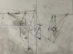 Set of four original ink drawings/paintings My by maaikevannierop