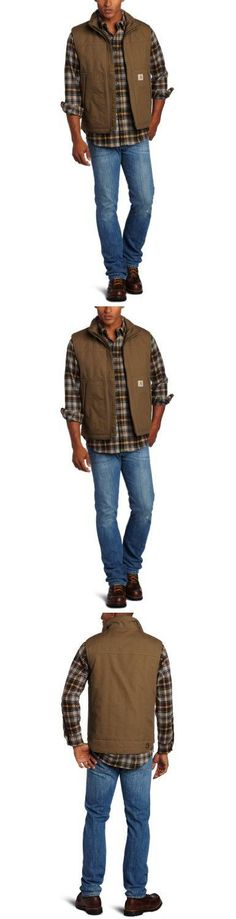 Carhartt Men's Quick Duck Woodward Vest, Canyon Brown, X-Large 8.5-ounce, 60 percent cotton/40 percent polyester canvas. Seams are triple stitched.  #Carhartt #Apparel