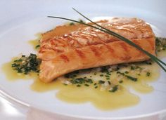 Arctic char with garlic and fresh rosemary