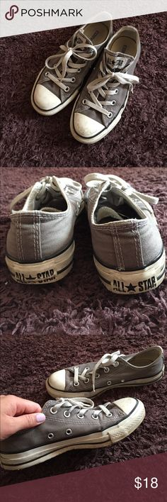Converse All Star low in gray Some wear, but still in great shape. Converse Shoes Sneakers