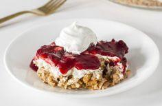Gluten Free Cranberry Dessert with Pretzel Crust
