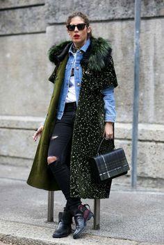 Milan Fashion Week Fall 2015 Street Style - theFashionSpot