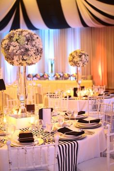 black and white themed wedding