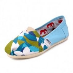Toms Blue Flower Youth Canvas Classic