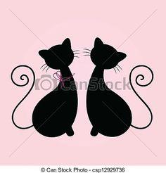 siluetas de gatos , Buscar con Google