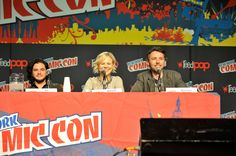 Kit Harington Photos Photos - (L-R) Kit Harington, Adelaide Clemens and Michael J. Bassett attend the 2012 New York Comic Con at the Javits Center on October 12, 2012 in New York City. - 2012 New York Comic Con - Day 2