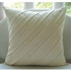 Contemporary Light Cream  Throw Pillow Covers  by TheHomeCentric, $24.75