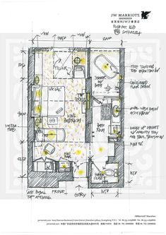 Give Your Rooms Some Spark With These Easy Design Tips – Decoration Inspired Hotel Floor Plan, Plan Sketch, Hotel Room Design, Landscape Plans, Hotel Interiors, Room Planning, Bedroom Layouts, Hospitality Design, Architecture Plan