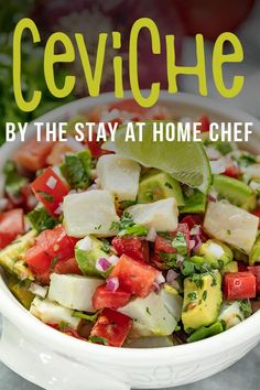 Easy Citrus Ceviche is a simple and flavorful fish dish. Raw white fish is bathed in tropical juices and topped with cilantro and red onion. Raw Fish Recipes, Seafood Recipes, Mexican Food Recipes, Mexican Desserts, Drink Recipes, Dinner Recipes, Easy Cooking, Cooking Recipes, Cooking Tips