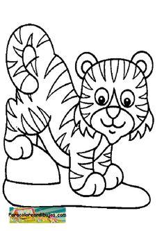 Para colorear dibujo de tigre