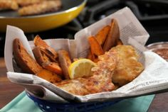 Bobby Deen's Lighter Recipes | Bobby Deen's Fish and Chips