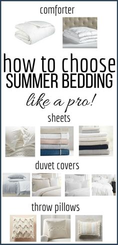 Change out your bedding this summer and create the most cozy and luxurious place to lay your head with these simple tricks and check out the my favorite summer bedding options. #TwelveOnMain #summerdecor #homedecor #farmhousestyle via @TwelveOnMain