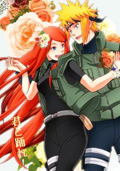 Anime: Naruto Personagens: Namikaze Minato e Uzumaki Kushina Anime Naruto, Naruto Minato, Manga Anime, Naruto Fan Art, Itachi, Naruto Family, Naruto Couples, Anime Couples, Naruhina