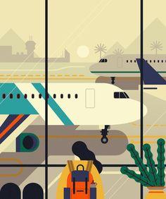 NYU Travel - Owen Davey Illustration