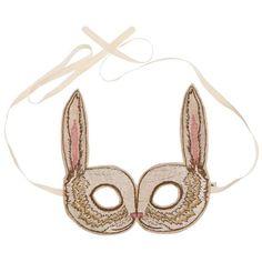 Coral & Tusk - Bunny Mask - Embroidered Masquerade Mask