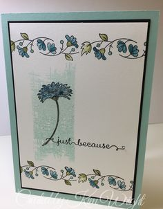 Stampin Up Bordering Blooms, Stampin Up You've Got This, Stampin Up Reason to Smile (retired), Stampin Up A Dozen Thoughts, Stampin Up Dazzling Diamonds. Based on a design I found on YouTube by Gina K Designs Stamp TV. I wanted to use Stampin Up products for my design. Her video can be found here http://youtu.be/nnoBe-PZKOI