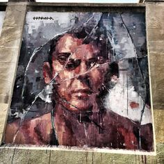 By Borondo. Tabacalera, Madrid. Spain.