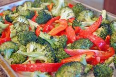 roasted red pepper and broccoli